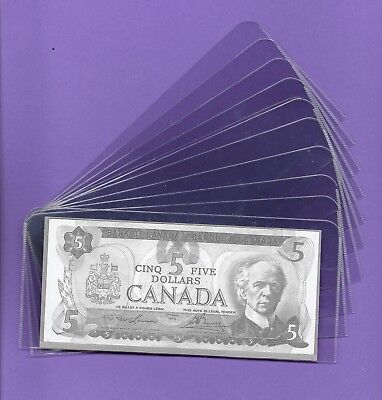 "Plastic Bank Note Sleeves 3""x7"" 10 Pcs"