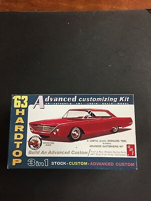 AMT '63 Ford 500 XL Sports Hardtop 3 In 1 Model Kit 6003 New In Open Box