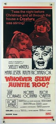 WHOEVER SLEW AUNTIE ROO? Shelley Winters HORROR Australian Daybill Poster 1971