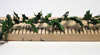 "Mini Holly Garland-Dollhouse Christmas Trim Roping 3/8"" X 1/8"" Leaves  (3 Ft)"