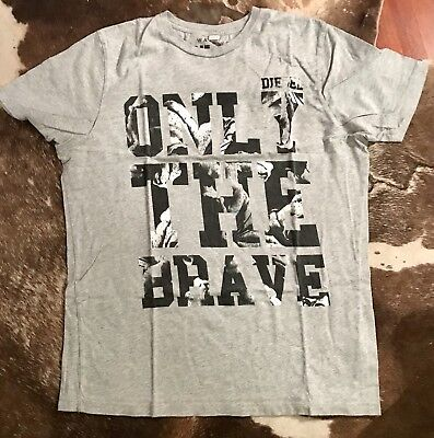0b2aeef2 DIESEL ONLY THE Brave Graphic T-Shirt Size M - $14.00 | PicClick
