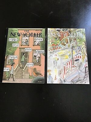 The New Yorker Magazine X 2 - April and May 2018