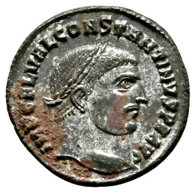 CONSTANTINE THE GREAT (316 AD) Rare Follis, Alexandria #IU 1103