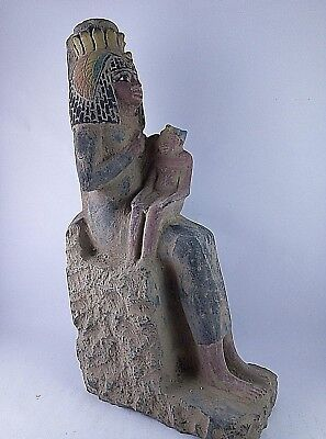 RARE ANCIENT EGYPTIAN ANTIQUE ISIS Nursing Horus 1518-1357 BC