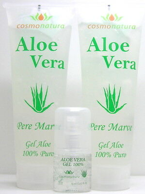 Pere Marve Canaria Set Aloe Vera Gel 100% 2 x 250 ml & 30 ml Pump-Spender