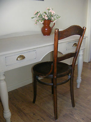 Antique Georgian desk / hall / dressing table / tray top desk / side table