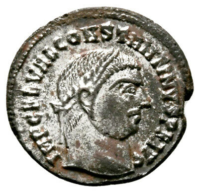 CONSTANTINE THE GREAT (316 AD) Rare Follis, Alexandria #IU 1107