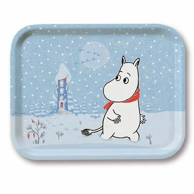 MOOMIN handmade birch wood tray MOOMINTROLL WAKES UP IN WINTER