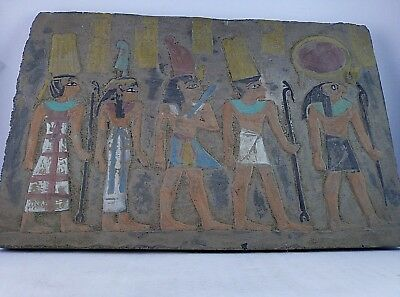 RARE ANCIENT EGYPTIAN ANTIQUE AMUN RA MAAT Stela 1478-1257 BC