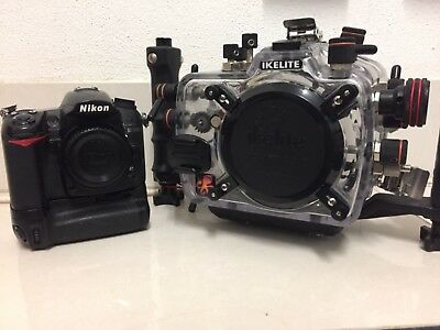 ikelite underwater housing with nikon d7000 camera body and accessories