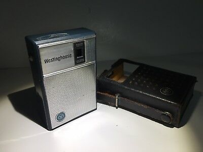 Vintage Westinghouse Pocket Transistor AM Radio H-902P6-GPA - Tested & Works!