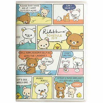 Rilakkuma 2019  B6  Schedule Book Monthly San-X Japan Free Shipping