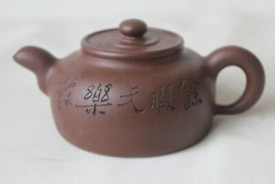 old chinese republic yixing pottery teapot 2 youngster chicken tea pot signed