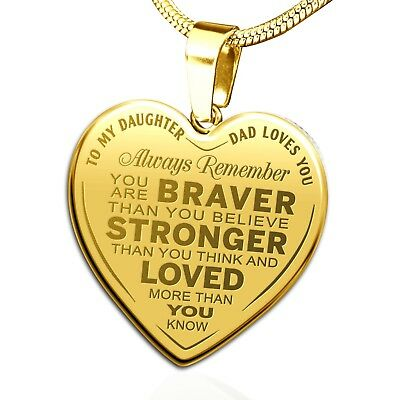 Father and Daughter Gift To My Daughter Always Remember That I Love You Necklace