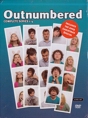 OUTNUMBERED - Complete Series 1-4 - Cult BBCtv Comedy 6xDVD Box Set - NEW