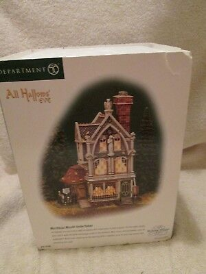 Dept 56 Dickens Village All Hollow's Eve Mordecai Mould Undertaker #56-58509