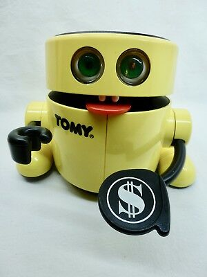 Tomy MR . MONEY Automatic Bank Robot Spardose  - 80er Jahre -  Batterie Funktion