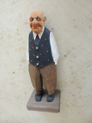 Trygg wood carving,Sweden carving,signed wood carving,caricature carving
