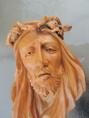 Christ wood carving,Religious carving,Spiritual carving,Wood Bust,Detailed carvi