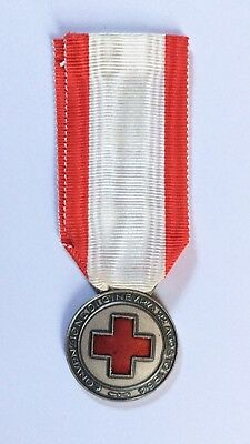 Médaille Croix Rouge Italie Italian Red Cross Medal Attribuée Datée