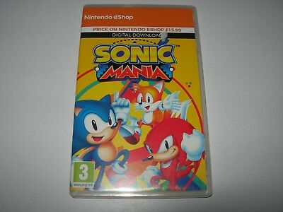 Nintendo Switch : SONIC MANIA -  Box ONLY - NO GAME!!