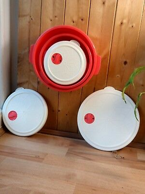 3 Bowl Set,lid & Extras,no Spills,non Slip,sticks To Multi Surfaces Diverse Use