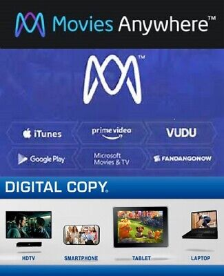 Movies Anywhere - UV - Digital - From 4K UHD and Blu-ray - Many to choose from