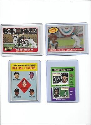 Mickey Mantle NY Yankees Vintage Lot of (4) Different 1959 1963 1965 BV$280.00