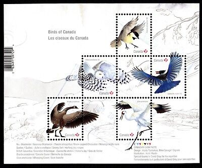 Canada 2018 Birds ; Souvenir Sheet  ;  USED VERY FINE
