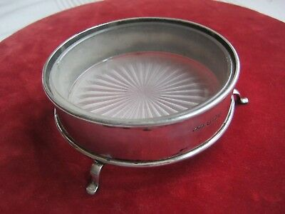 Solid silver butter dish with cut glass liner - Birmingham 1944, E J Houlston