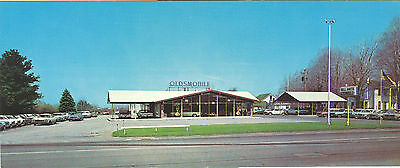 Bill Smith Oldsmobile Dealer Postcard Painesville Mid 1960's