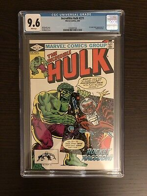 Incredible Hulk 271 First Rocket Raccoon In Comics! CGC 9.6 With WHITE Pages!