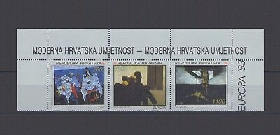 CROATIA, EUROPA CEPT 1993 with CORNER MARGINS from S/S, MNH