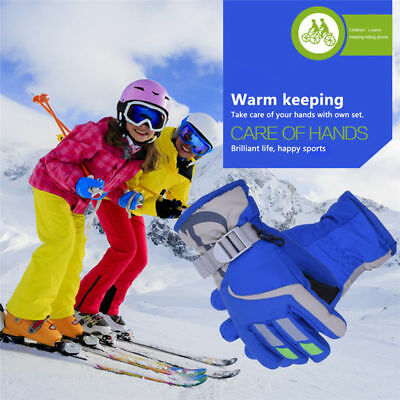 Kids Children 5 6 7 8 years Winter Warm Snow Gloves water Wind Proof Xmas Gift