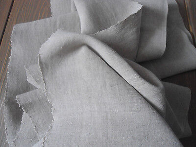 Antique Vintage Organic Linen Natural Flax Fabric Yardage 1Yard