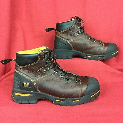 """TIMBERLAND PRO ® ENDURANCE 6"""" STEEL TOE WORK safety ASTM leather 52562 men's 11"""