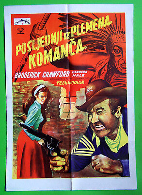 Last Of The Comanches-B.crawford-Yugo Movie Poster 1953