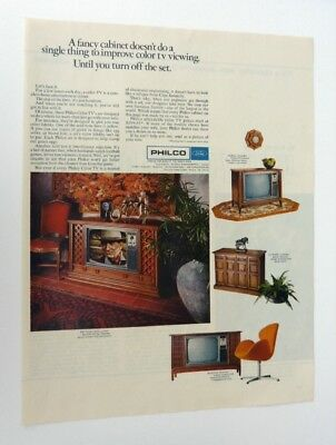 1968 PHILCO TV Print Ad Philco Ford Console TV Original Magazine Ad A102