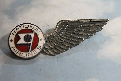 Vintage National Airlines Flight Attendant Wing Badge 1930's To Early  1960's