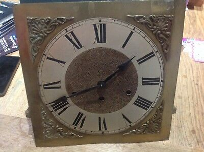 Vintage German Westminster Chime Grandfather Clock Movement And Face