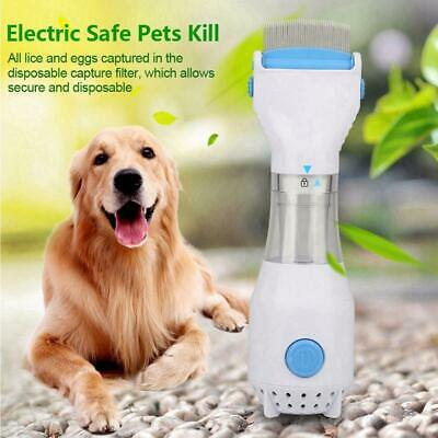 Flea Comb Dogs Cats Puppies Fleas Killer Electronic Electric Safe Pets US Plug