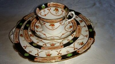 GW & S Ltd Rosina Queens China cup, saucer, tea and sandwich plate