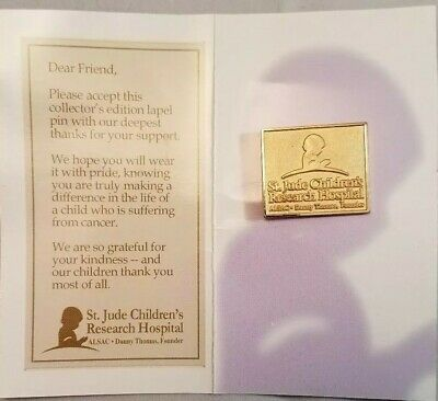 Collectible St Jude Children's Hospital Gold Hat/Lapel Pin NEW