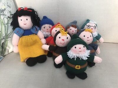 Hand Knitted Snow White and The Seven Dwarves