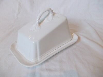 White Ceramic Butter Dish With Lid