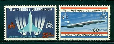 New Hebrides MNH (BRITISH): Scott #130-131 Anglo-French CONCORDE Aviation $$