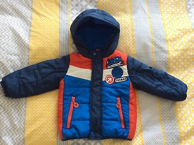 Baby Boys M&S Coat 18-24 Months Thomas The Tank Padded Jacket 1.5-2 Years