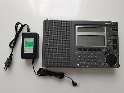 Sony World Band Shortwave Portable Radio Receiver Icf-Sw77 Fm/sw/mw/lw Mint Con