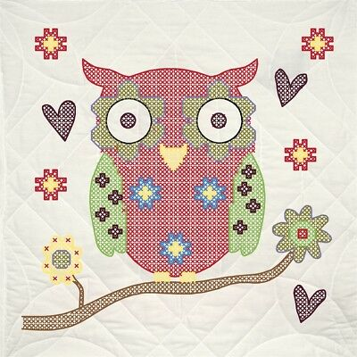 "Fairway Stamped Quilt Blocks 18""x18"" 6/pkg-owl"