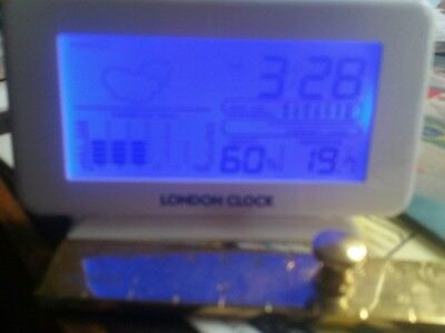 London Clock Company White Indoor Weather Station